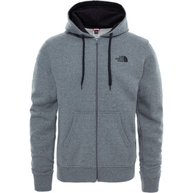 The North Face Open Gate Sudadera Cremallera Completa Hombre, tnf medium grey heather/tnf black